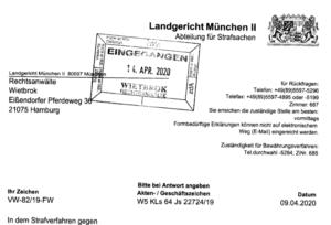 Anklageschrift Audi 3 L Diesel